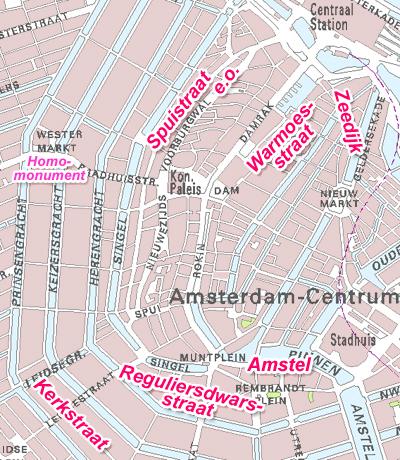 Homohorecastraten in Amsterdam