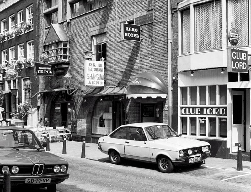 Gay places in Kerkstraat in 1983